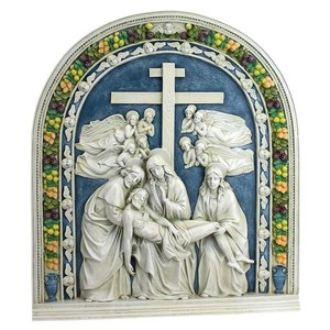 Decent from the Cross by Della Robbia Wall Sculpture