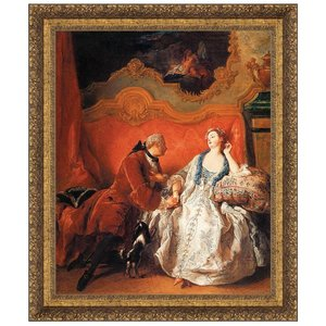 The Declaration of Love, 1735: Canvas Replica Painting: Small