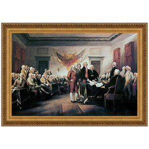 Declaration of Independence, 1817 Canvas Replica Painting: Large