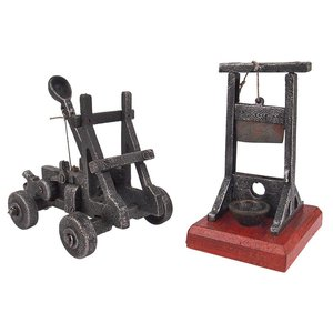 Desk-Sized Catapult and Guillotine Set
