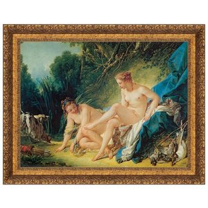 Diana Leaving Her Bath 1742: Canvas Replica Painting: Small