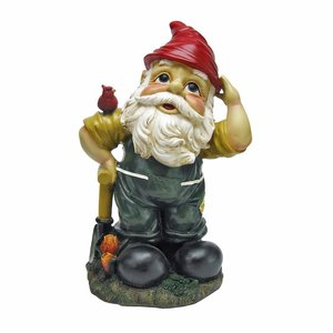 Dieter, the Digger Garden Gnome Statue