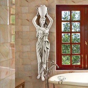 Dione the Divine Water Goddess Wall Sculpture