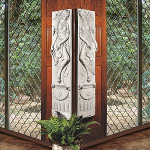 The Dionysia Festival Frieze Wall Sculptures: Set of Two