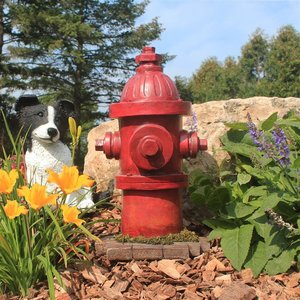 Dog's Second Best Friend Fire Hydrant Statues
