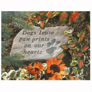 Dog Paw Prints Cast Stone Memorial Statues