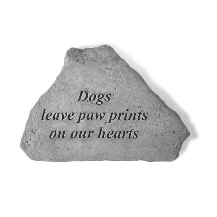 View larger image of Dog Paw Prints Cast Stone Memorial Statue: Medium