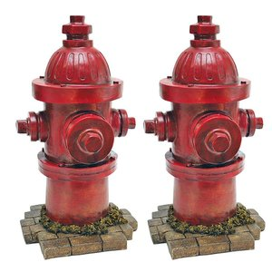 Dog's Second Best Friend Fire Hydrant Statue: Set of Two