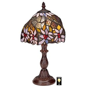American Dogwood Tiffany-Style Stained Glass Lamp