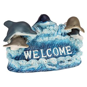 Dolphin Welcome Statue