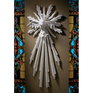 Dove of Peace Bonded Marble Resin Wall Sculpture