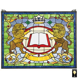 Lion Coat of Arms Stained Glass Window