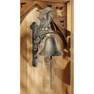 Dragon of Murdock Manor Gothic Iron Bell: Set of Two