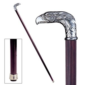 The Padrone Collection: Eagle Pewter Walking Stick