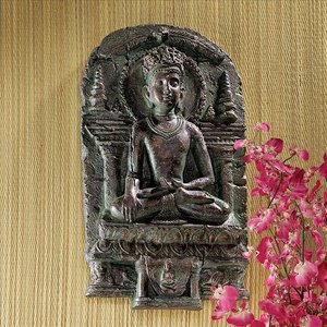 Earth Witness Buddha Wall Sculpture Small
