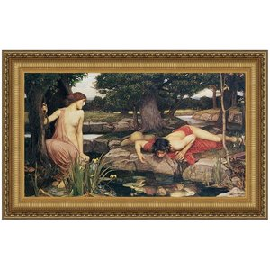 Echo and Narcissus, 1903: Canvas Replica Painting: Grande