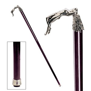 The Padrone Collection: Ecstasy Pewter Walking Stick