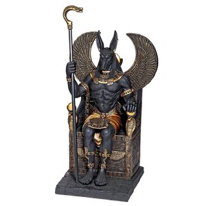 Egyptian Anubis God Sitting on the Throne of the Underworld Statue