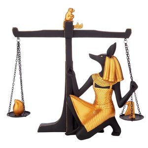 Egyptian God Anubis Weighing of the Heart Statue