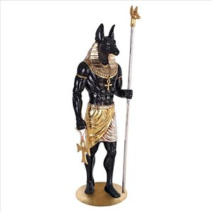 The Egyptian Grand Ruler Collection: Life-Size Anubis Statue
