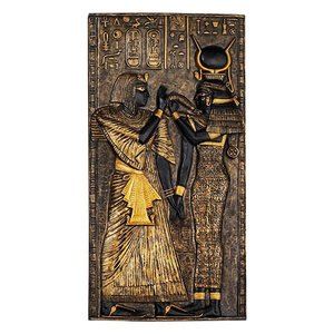 Egyptian Temple Stele Plaque: Isis
