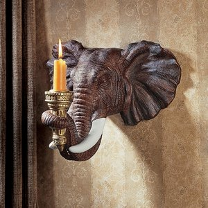 Elephant Sculptural Wall Sconce