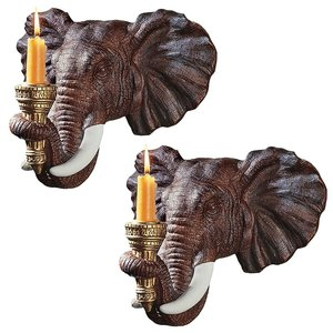 Elephant Wall Sconce: Set of Two
