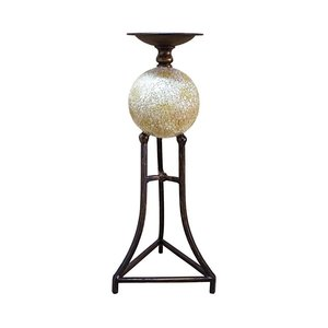 Elevated Sphere 16 Inch Candlestick