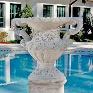 Elysee Palace Baroque-style Architectural Garden Urn Statues