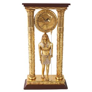 Emple of Amun: Royal Egyptian Clock Statue
