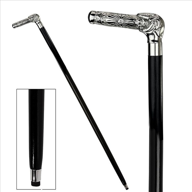 View larger image of Empress Collection: Beaux Arts Solid Hardwood Walking Stick