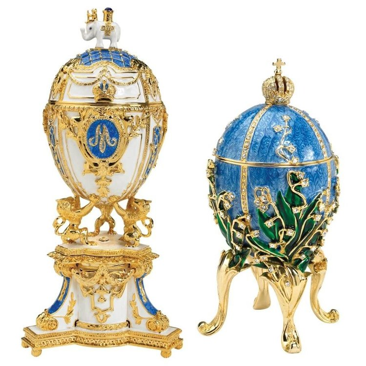 View larger image of Empress Valentina and Empress Galina Collectible Enameled Eggs