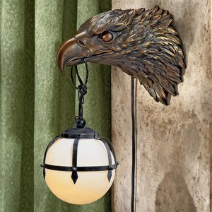 Enlightening Freedom Bald Eagle Sculptural Electric Wall Sconces