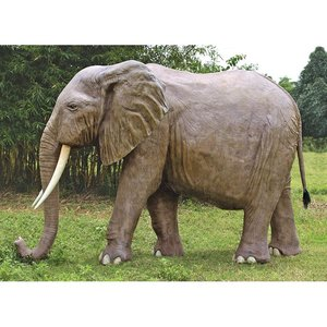 Enormous African Elephant Statue
