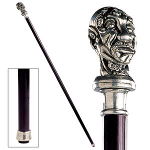 The Padrone Collection: Entwined Exotic Pewter Walking Stick