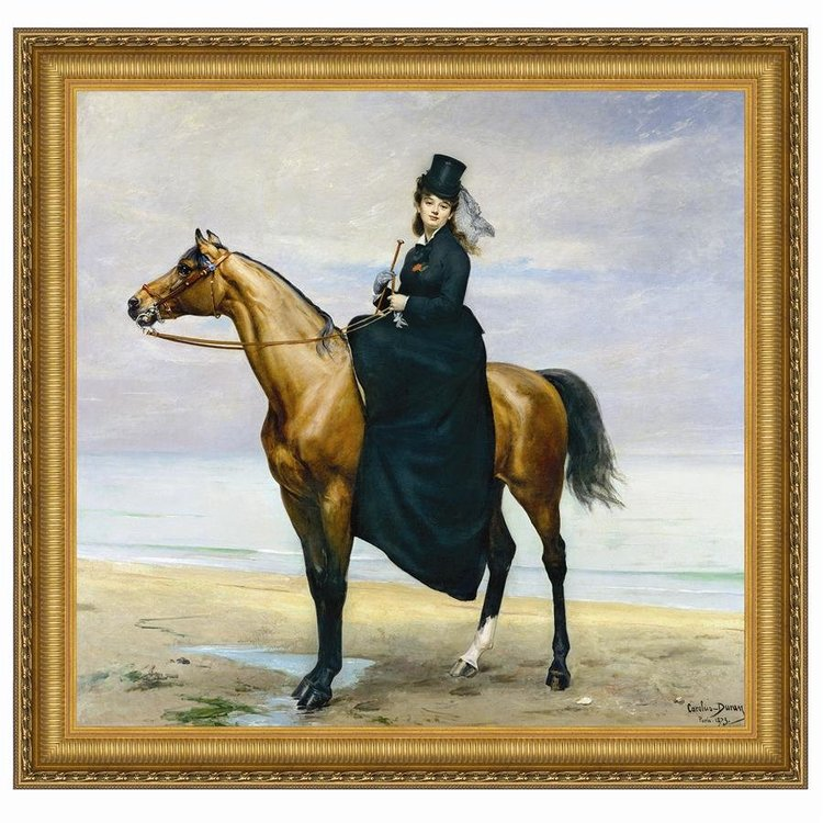 View larger image of Equestrian Portrait of Mademoiselle Croizette, 1873: Canvas Replica Painting: Grande