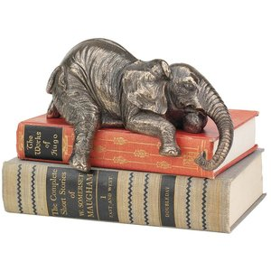 Ernest the Lounging Elephant Sitting Statue