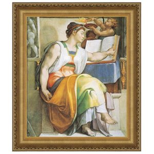The Erythraean Sibyl, 1509: Canvas Replica Painting: Small
