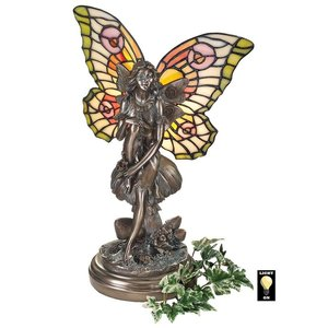 Fairy of the Glen Tiffany-Style Stained Glass Illuminated Statue