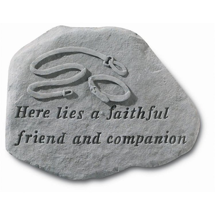 View larger image of Faithful Companion Cast Stone Dog Memorial Statue