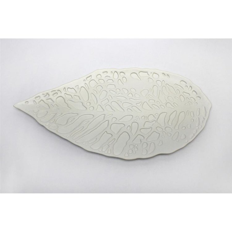 View larger image of Fala Hand-Crafted Ceramic Leaf Tray