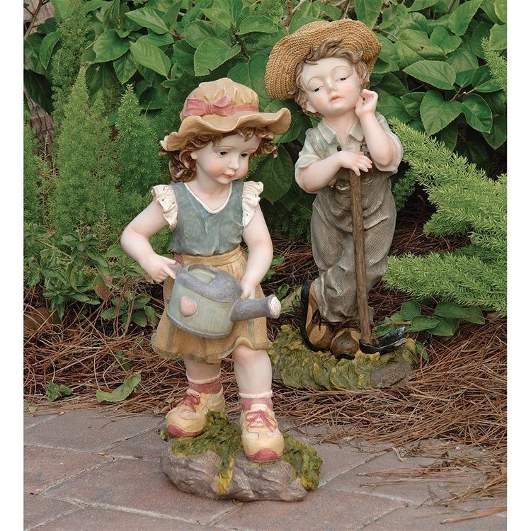 View larger image of Fanny & Frank Farmer Garden Statue