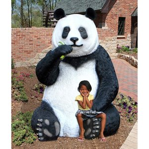 Fantong Oversized Giant Panda Bear Statue with Paw Seat
