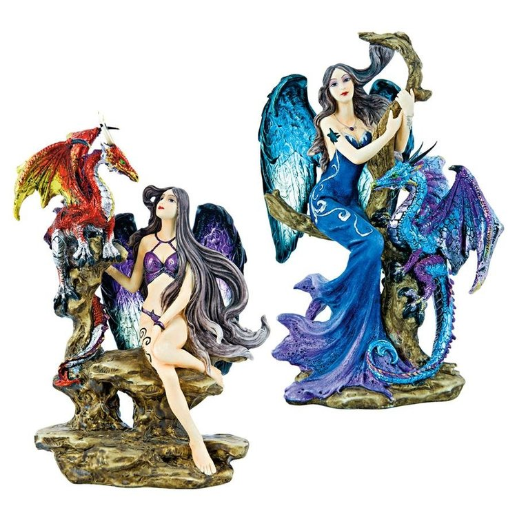 View larger image of Fire and Ice Gothic Temptress Statues