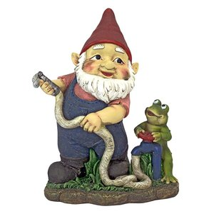 Firefighter Franz and his Frog Fire Brigade Garden Gnome Statue