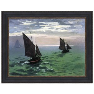 Fishing Boats at Sea, 1868: Canvas Replica Painting: Large