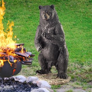 Fishing for Trouble Bear Statue: Large