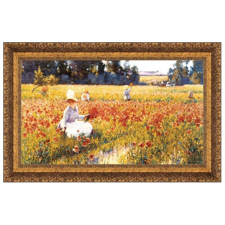 View larger image of In Flanders Field Where Soldiers Sleep and Poppies Grow, 1890: Canvas Replica