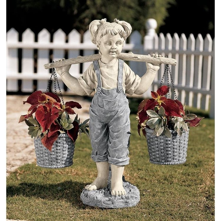 View larger image of Flowers for Felicity Little Girl Garden Statues