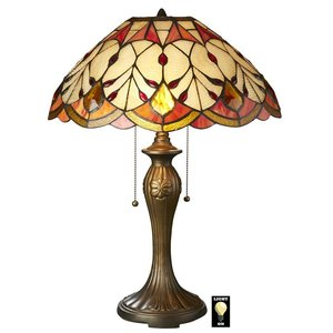 Flowing Buds Tiffany-Style Stained Glass Table Lamp